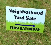 Neighborhood Yard Sale Sign