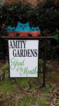 Amity Gardens YOTM Sign
